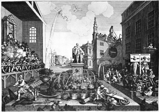 Hogarth, William. The Times (Plate II). Fine Art Print/Poster. Sizes: A4/A3/A2/A1 (002302)